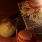 Macaron poire et fraise Tagada
