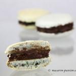 Macaron menthe chocolat noir pétillant