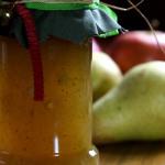 Confiture poire, pomme et pain d'épices