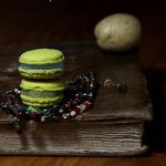 Macaron confiture de pomme de terre et crème de châtaigne