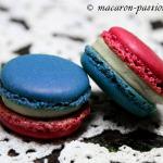 Macaron pomme cannelle Bleu-blanc-rouge