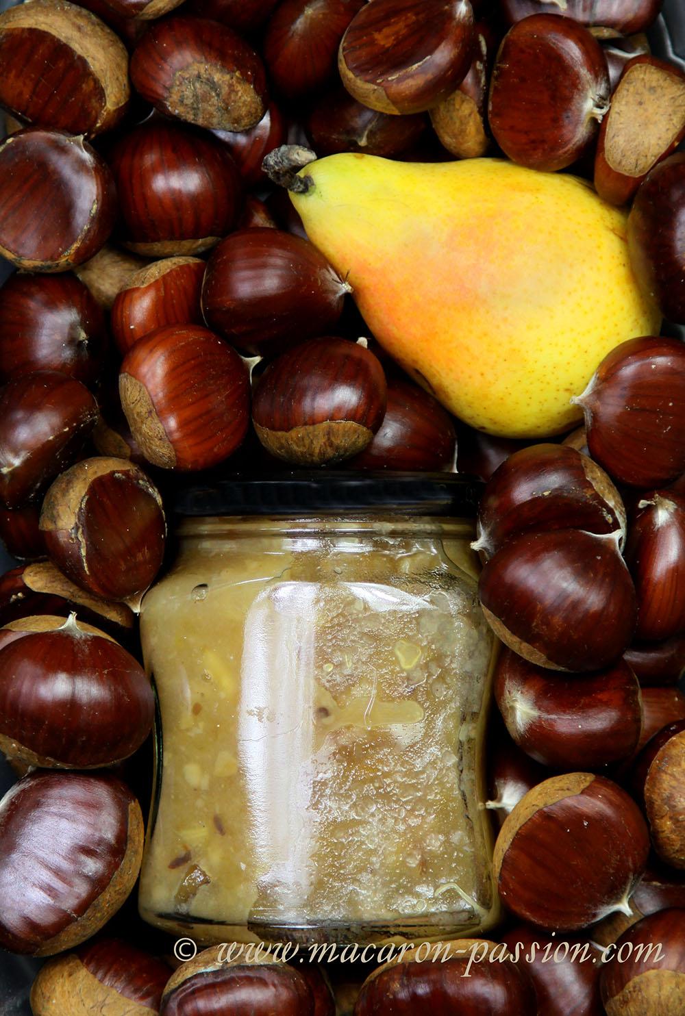 confiture pomme poire chataigne macaron-passion